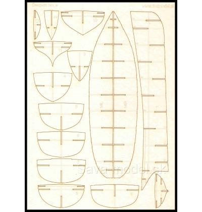 Laserom vyrezaný trup Despatch No.9