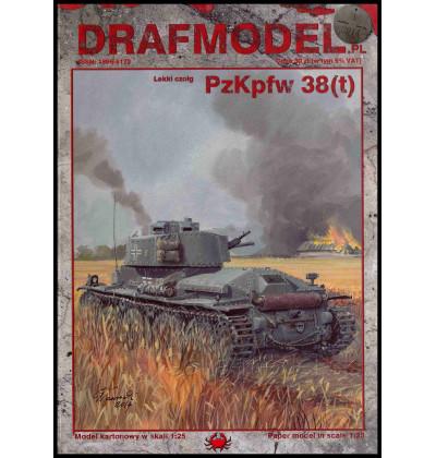 Vystrihovačka papierový model Pz. Kpfw. 38 (t) Ausf. B