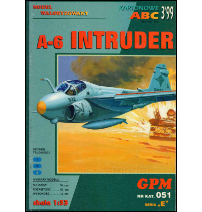 Vystrihovačka papierový model A-6 Intruder