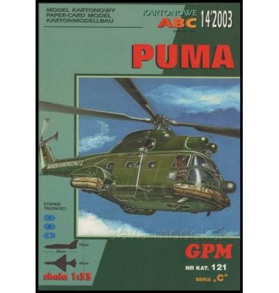 Vystrihovačka papierový model SA 330 Puma