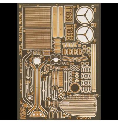 Fotoleptané kovové diely Fiat 508 Lazik