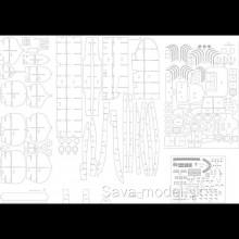 Laserom vyrezaný trup a detaily