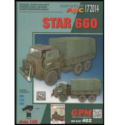 Vystrihovačka papierový model STAR 660