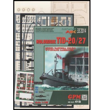 Vystrihovačka papierový model - Set TID-20/27