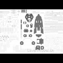 Laserom vyrezané detaily a Paluba
