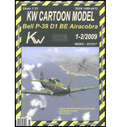 Vystrihovačka papierový model P-39 D1 BE Airacobra