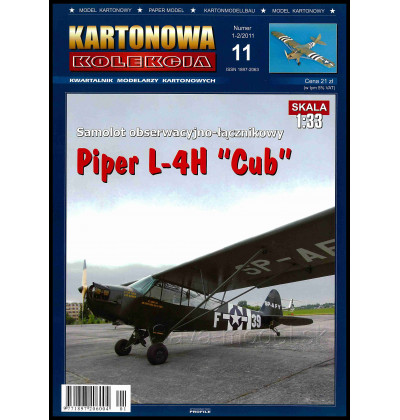 Vystrihovačka papierový model Piper L-4H CUB