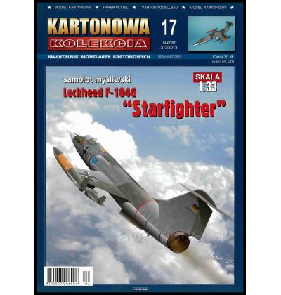 Vystrihovačka papierový model F-104 G Starfighter
