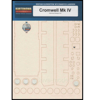 Laserom vyrezaný trup Cromwell MK IV