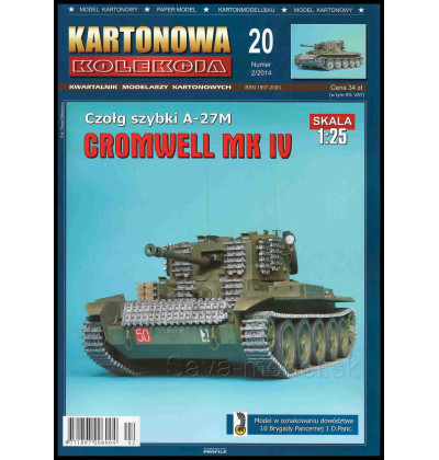 Vystrihovačka papierový model Cromwell MK IV