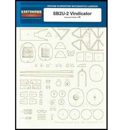 Laserom vyrezaný trup SB2U-2 Vindicator