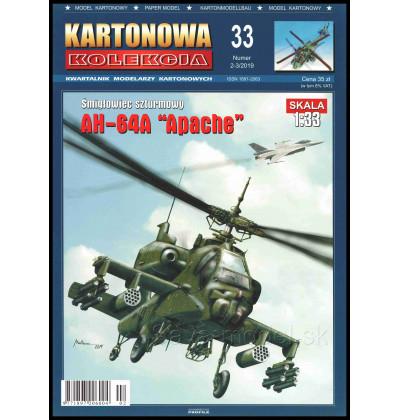 Vystrihovačka papierový model AH-64 A Apache