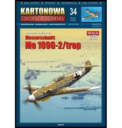 Vystrihovačka papierový model Me-109 G-2 / trop