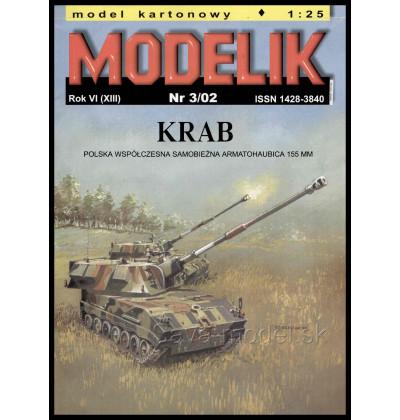 Vystrihovačka papierový model KRAB 155 mm