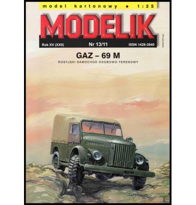 Vystrihovačka papierový model GAZ-69 M