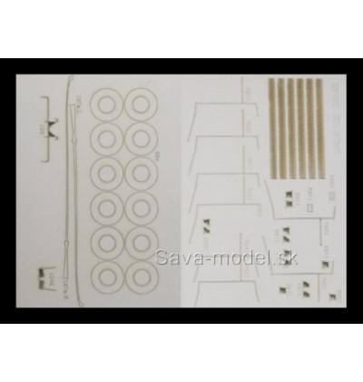 Laserom vyrezané dezény kolies a detaily Ziu-9B
