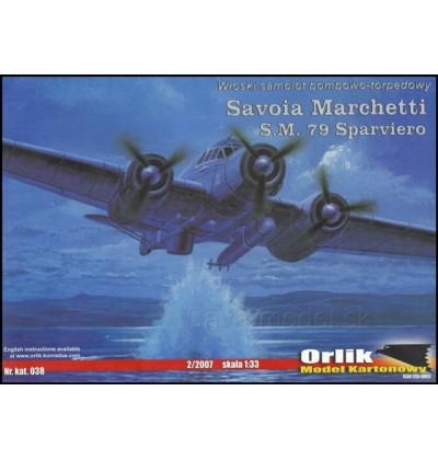 Vystrihovačka papierový model Savoia Marchetti S.M. 79 Sparviero