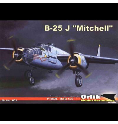 Vystrihovačka papierový model B-25 J Mitchell
