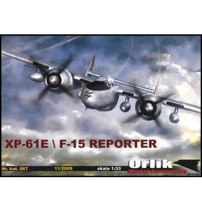 Vystrihovačka papierový model XP-61E/F-15 Reporter