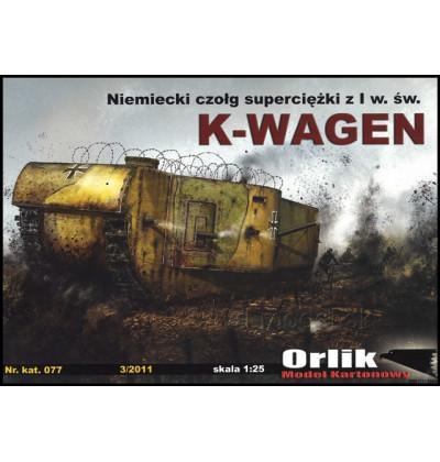 Vystrihovačka papierový model K-Wagen