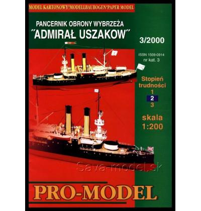 Vystrihovačka papierový model Admiral Uszakov