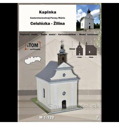 Vystrihovačka papierový model Kaplnka - Žilina