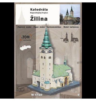 Vystrihovačka papierový model Katedrála - Žilina