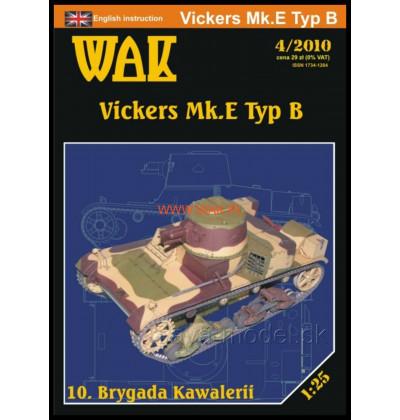 Vystrihovačka papierový model Vickers Mk.E Typ B