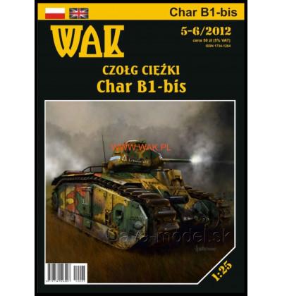 Vystrihovačka papierový model Char B1 bis