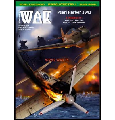 Vystrihovačka papierový model Pearl Harbor 1941