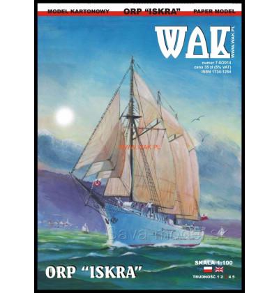 Vystrihovačka papierový model ORP Iskra - 1917
