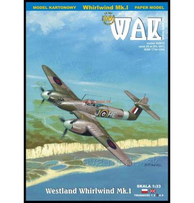 Vystrihovačka papierový model Westland Whirlwind Mk.I