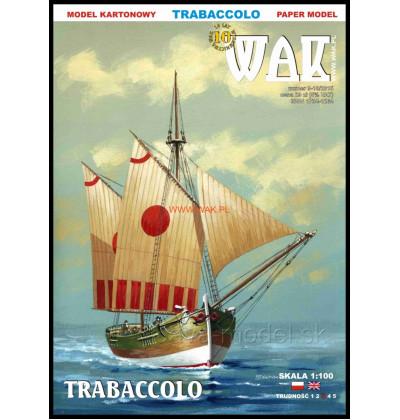 Vystrihovačka papierový model Trabaccolo