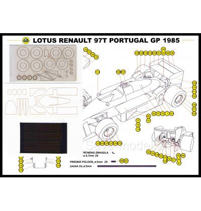 Vystrihovačka papierový model - Set Lotus Renault 97T, GP-1985, Portugal - set