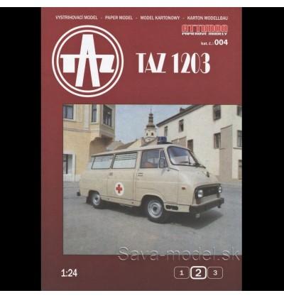 Vystrihovačka papierový model úžitkové vozidlo TAZ 1203