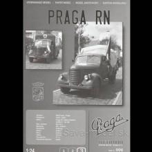 Vystrihovačka papierový model nákladné vozidlo Praga RN