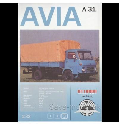 Vystrihovačka papierový model nákladné vozidlo AVIA A31