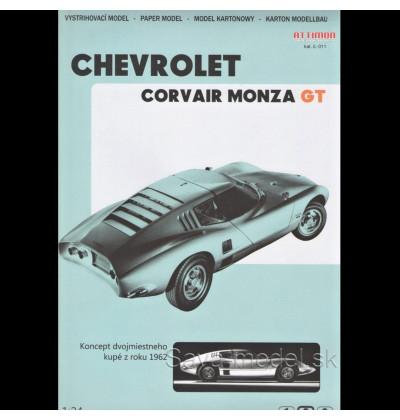 Vystrihovačka papierový model Chevrolet Corvair Monza GT