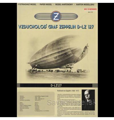 Vystrihovačka papierový model vzducholoď D-LZ  127 Graf Zeppelin