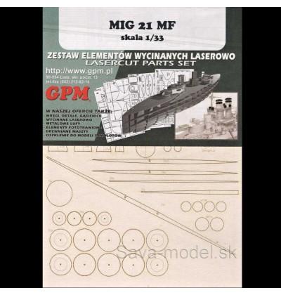Laserom vyrezaný trup Mig-21 MF