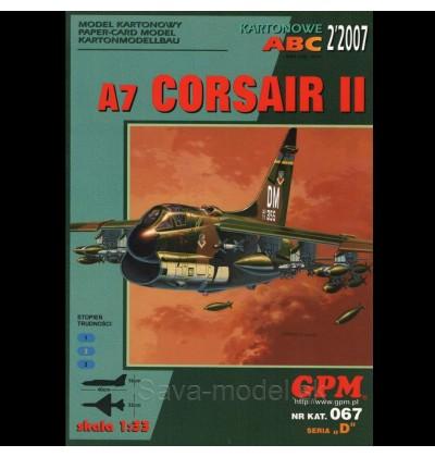 Vystrihovačka papierový model lietadla A-7 D Corsair II