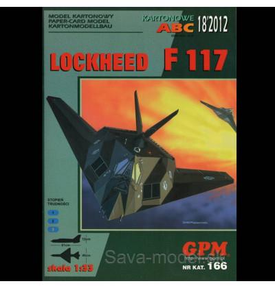 Vystrihovačka papierový model F-117 Nighthawk
