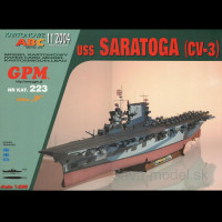 Vystrihovačka papierový model lietadlovej lodi USS Saratoga ( CV-3 )