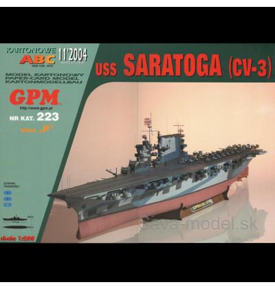 Vystrihovačka papierový model lietadlovej lodi USS Saratoga ( CV-3 ) -set