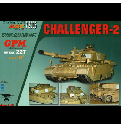 Vystrihovačka papierový model tanku Challenger-2 -set