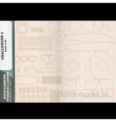 Laserom vyrezaný trup a detaily tanku Challenger-2