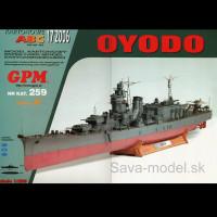 Vystrihovačka papierový model lodi IJN Oyodo -set