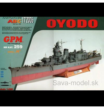 Vystrihovačka papierový model lodi IJN Oyodo