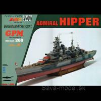 Vystrihovačka papierový model lodi Admiral Hipper