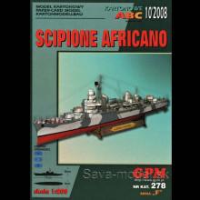Vystrihovačka papierový model lodi Scipione Africano
